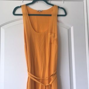 Joie Tangerine Silk Maxi Dress - size small
